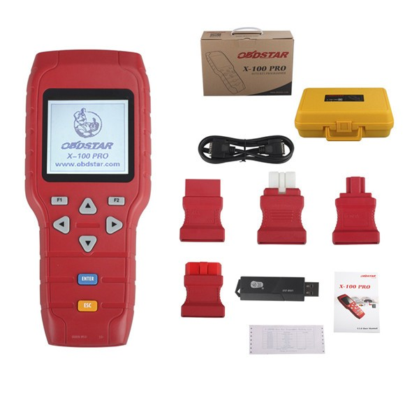 X-100 PRO Auto Key Programmer (C+D) Type for IMMO+Odometer+OBD Software Get EEPROM Adapter Free