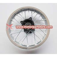 1.85 x 12 rear alloy rim with hub