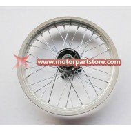 14 x 1.60 front alloy rim with hub
