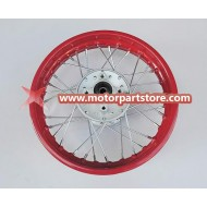 3.0 x 12 rear steel rim with hub
