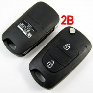 Modified Flip Remote Key Shell 2 Button For Hyundai Verna