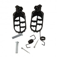 Black Footes Footpegs Foot Pegs Rest For Yamaha PW50 PW80 PW 50 80 Motocross