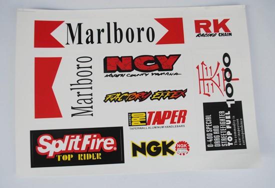 Racing Sticker Pack / Sheet / Kit Decals