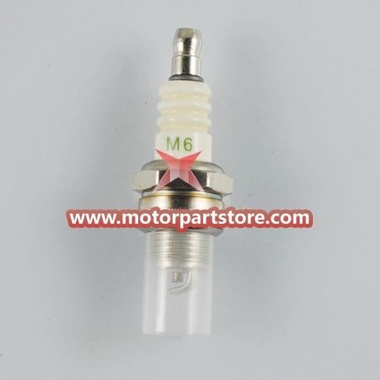 M6 spark plug fit the 2 stroke 47cc to 49cc