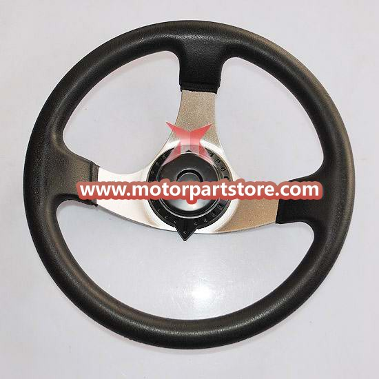 The Steering wheel fit for 110cc to 150cc go karts