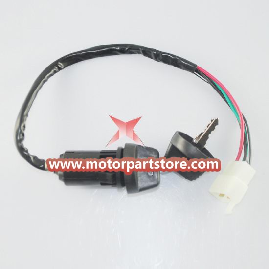 4 wire Key Ignition for ATV & Dirt Bike.