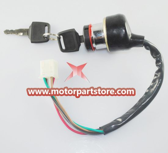 Ignition Key Switch Lock Key Electric 6 Wire For Motorcycle ATV