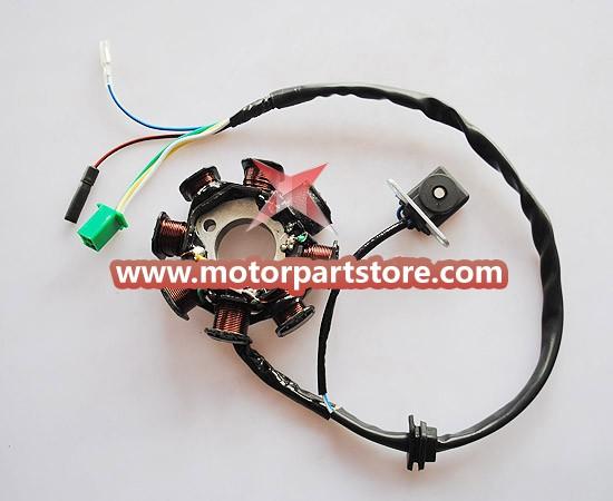 New 8-Coil Magneto Stator For GY6 125-150 Atv