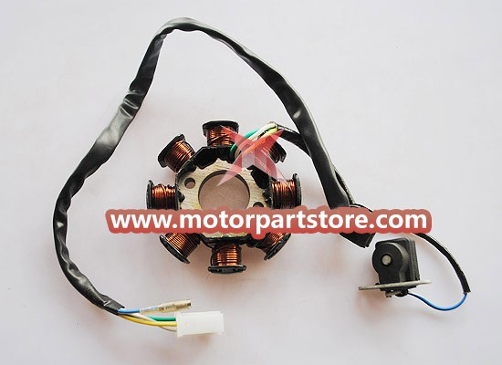 New 8-Coil Magneto Stator For GY6 50-150 Atv