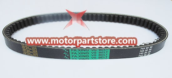 The 20 x 743 x 30 belt fit for the GY6 engine