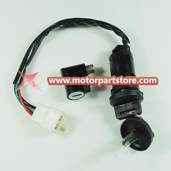 Ignition lock with steering lock set for ATV