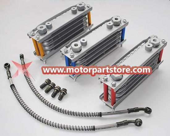 Oil cooler fit for horizontal 110-125 CC dirt bike