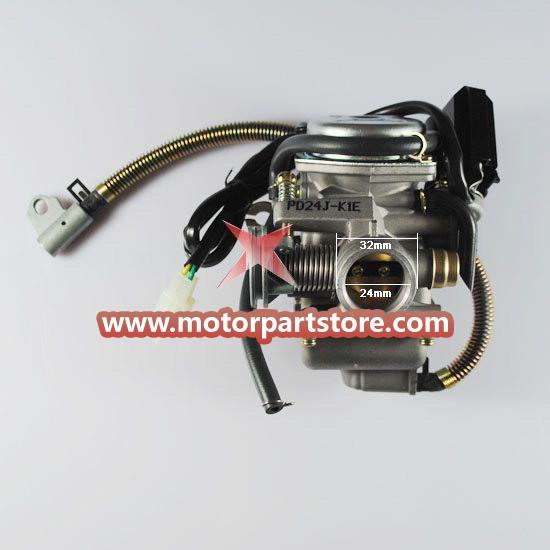 New 24mm Carburetor For Gy6 125cc-150cc Atv