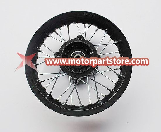 10 x 1.60 rear alloy rim with hub