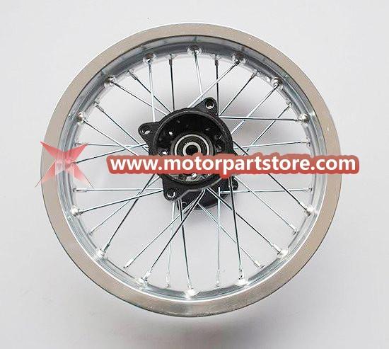 1.85 x 12 rear alloy rim with hub