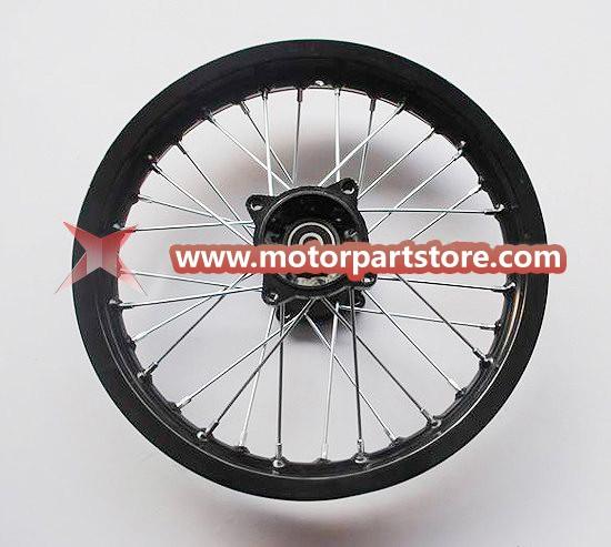 1.85 x 14 rear alloy rim with hub