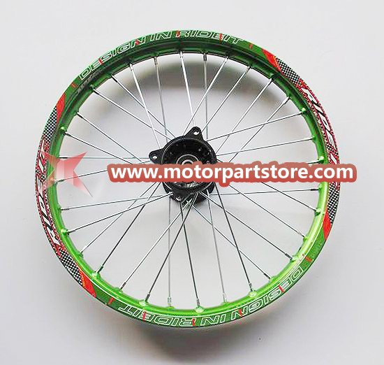 1.60 x 17 front alloy rim with hub