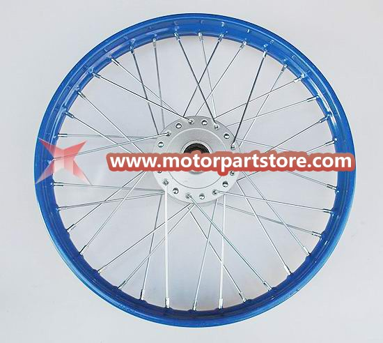 1.60 x 17 front steel rim with hub