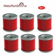 6 Oil Filter Filters for DRZ400 DRZ400E DRZ400S DRZ400SM KLX400R KLX400SR