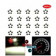 100 x T3 Neo Wedge White Car Instrument Cluster Panel Lamps Gauge LED Bulbs