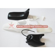 GAS TANK SEAT PLASTIC KIT WHITE FOR 50PY PW50 PY50