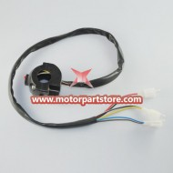 New Black 3-Function Left Switch Assembly For Pocket Bike