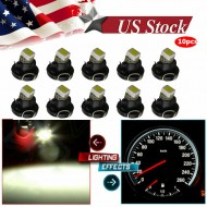 10Pcs White T3 Neo Wedge 1SMD LED Cluster Dash A/C Climate Light Bulbs For Acura