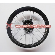 1.85 x 14 rear alloy rim with hub