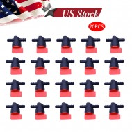 "(20) 1/4"" Straight In-Line Gas Motorcycle Fuel Shut-off / Cut-off Valves Petcock"