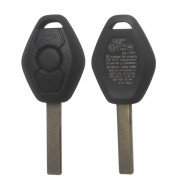 Key Shell 3 Button 2 Track (Back Side with the Words 433.92MHZ) For BMW