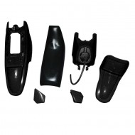 PLASTIC KIT SEAT TANK FENDER BLACK for 50PY PW50