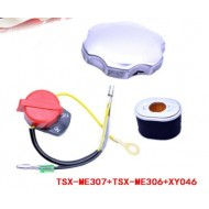 Air Filter Fuel Tank Cap Switch Kit For HONDA GX160 GX200 Generator