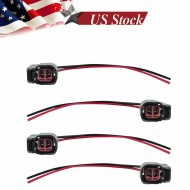 4 EV6 EV14 Fuel Injector Connector Wiring Plugs USCAR Clips Pigtail Cut & Splice